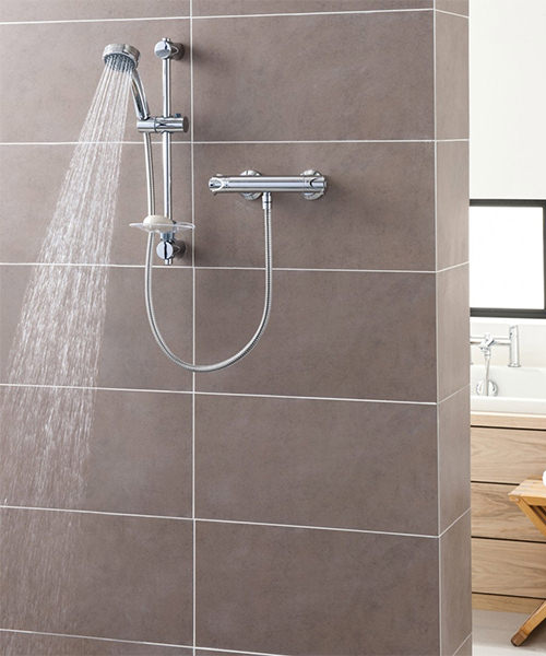 Alternate image of Triton Dene Cool Touch Bar Mixer Valve With Shower Set