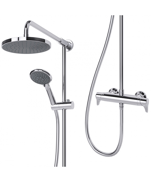 Additional image of Triton Eden Bar Diverter Mixer Shower And Kit