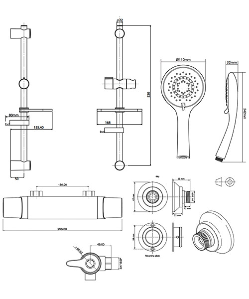 Technical drawing 50690 / UNEDTHBM
