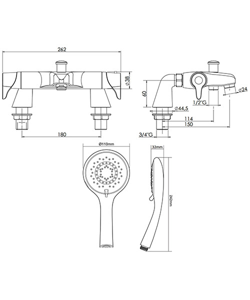 Technical drawing 50692 / UNEDTHBSM
