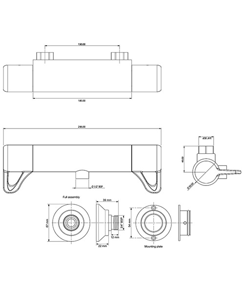 Technical drawing 50720 / ELITHBMINC3BOT