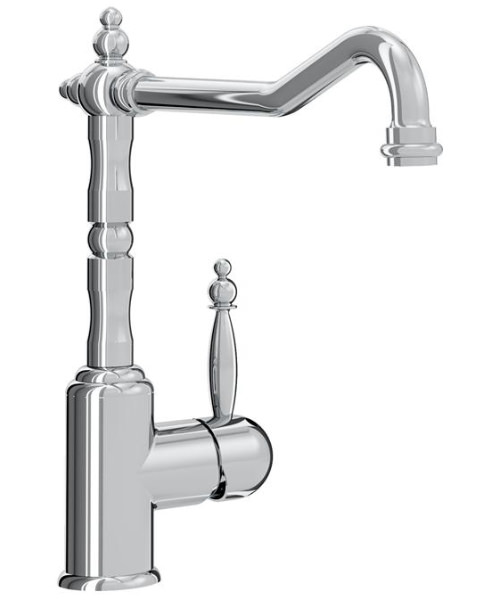 Bristan Colonial Single Lever Deck Mounted Kitchen Sink Mixer Tap With EasyFit Base