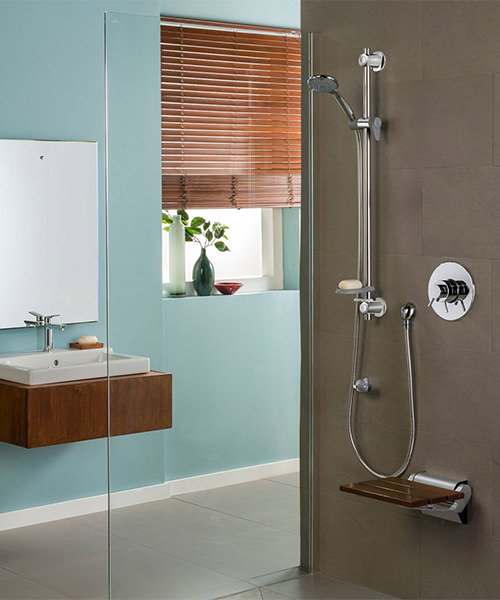 Additional image of Triton Elina Concentric Built-In Thermostatic Shower Valve With Riser Rail