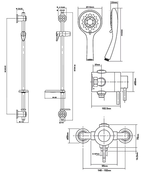 Technical drawing 50718 / ELICMINCEX