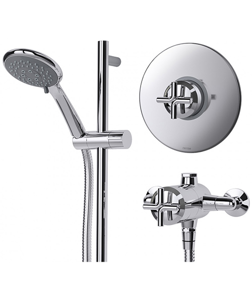 Additional image of Triton Kensey Sequential Mixer Shower Valve With Shower Kit