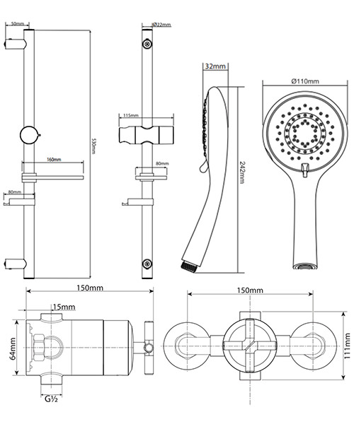 Technical drawing 50701 / UNKETHSQM