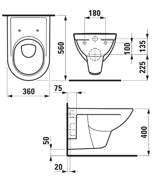 Technical drawing 31357 / 20950WH