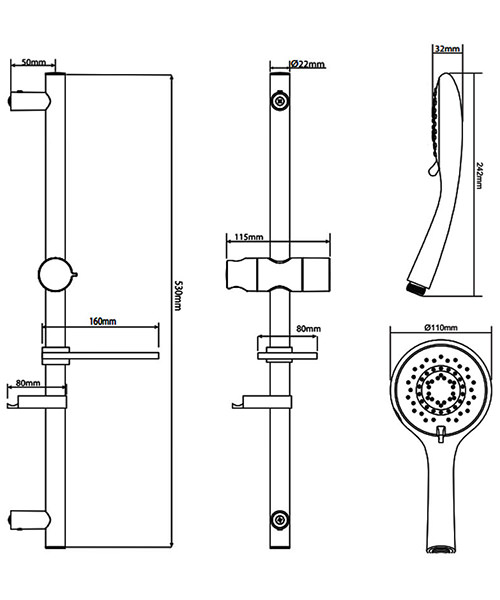 Technical drawing 50730 / TSKFKIA800UCH