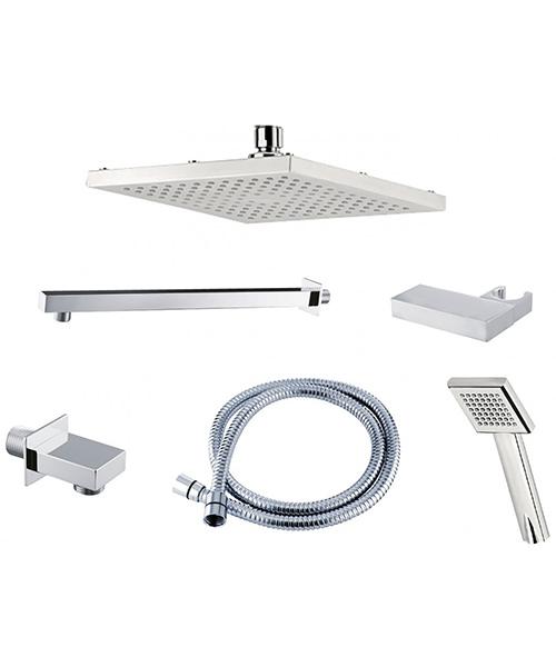 Triton Square Edge Dual Control Mixer Shower Combination Pack 3