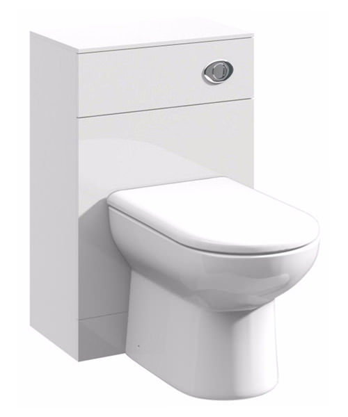 Essential Alaska 500 x 300mm Back To Wall WC Cabinet