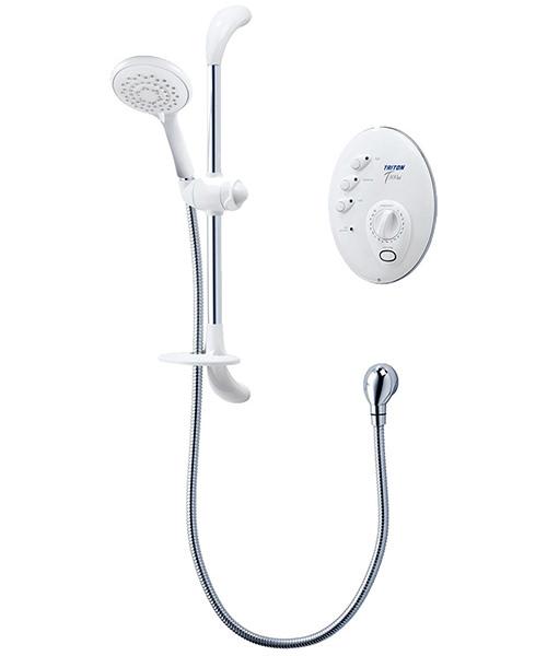 Triton T300si 10.5 KW Remote Electric Shower White And Chrome