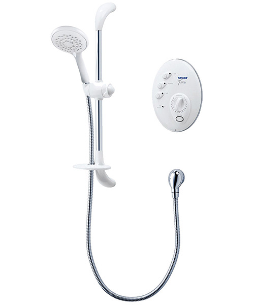 Triton T300si 9.5 KW Remote Electric Shower White And Chrome