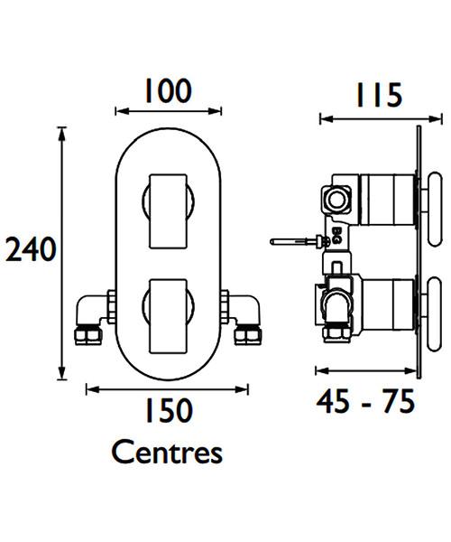 Technical drawing 41422 / MPIV2 SHCDIV CR