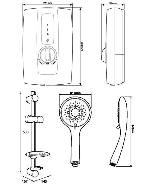 Technical drawing 41063 / ASPTOU09WHT