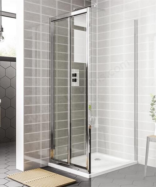 Essential Spring 900mm Bi-Fold Shower Door