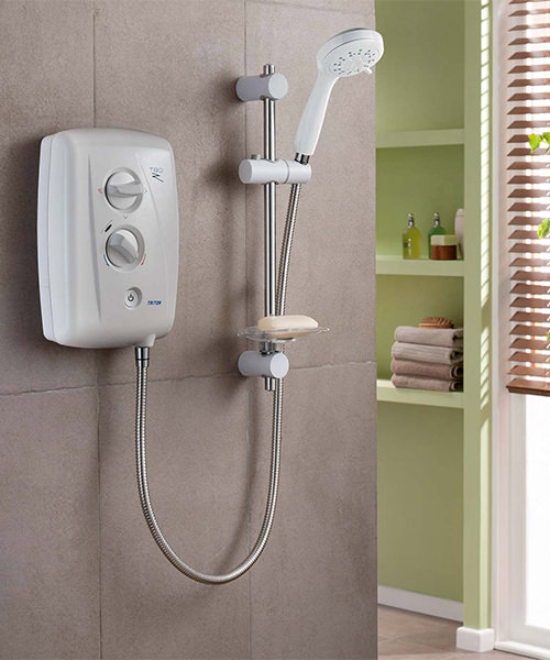 Alternate image of Triton T80Z Fast Fit Electric Shower 10.5 KW White-Chrome