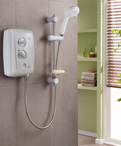 Alternate image of Triton T80Z Fast Fit Electric Shower 8.5 KW White-Chrome