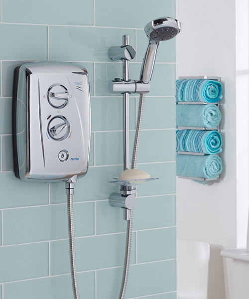 Alternate image of Triton T80Z Fast Fit Electric Shower 9.5 KW Chrome