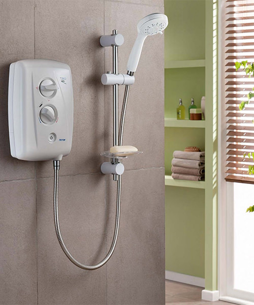 Alternate image of Triton T80Z Fast Fit Electric Shower 9.5 KW White-Chrome