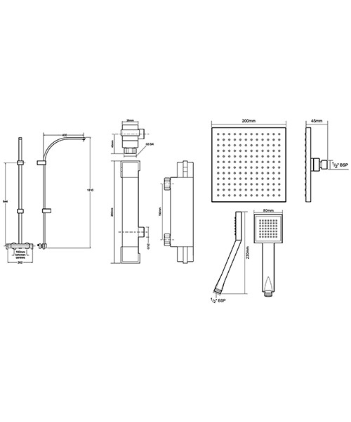 Technical drawing 50710 / UNTEBMDIV