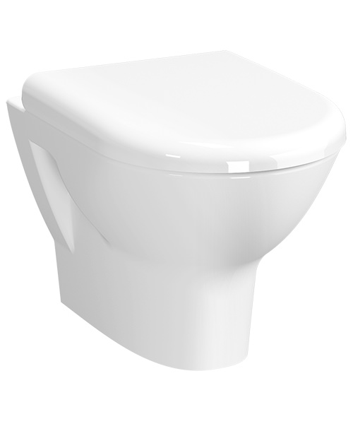 Vitra Zentrum Wall Hung Rim-Ex Ceramic WC Pan