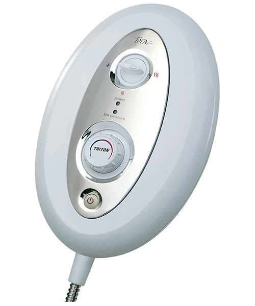 Additional image of Triton Topaz T80si Thermostatic Electric Shower 10.5 KW White-Chrome