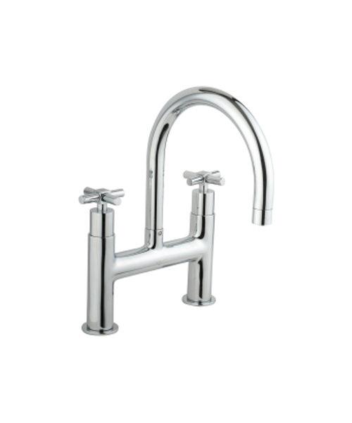 VitrA Uno H Type Bath Filler Tap Chrome