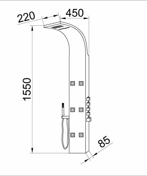 Technical drawing 16128 / AS326