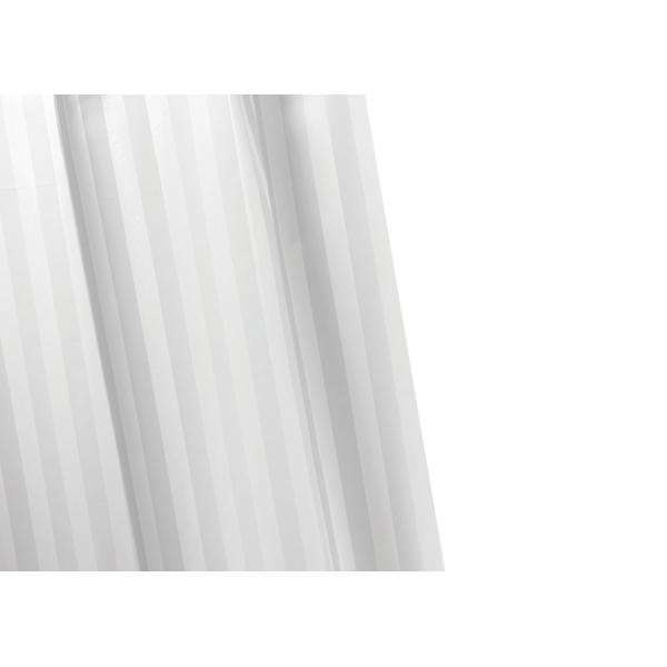 Croydex Woven Stripe Textile Shower Curtain White