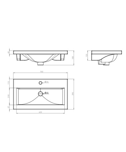 Technical drawing 14566 / CON700W
