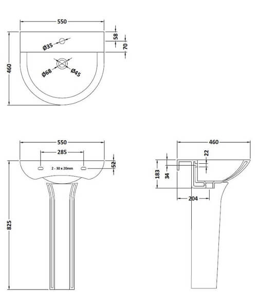 Technical drawing 55085 / NCG300
