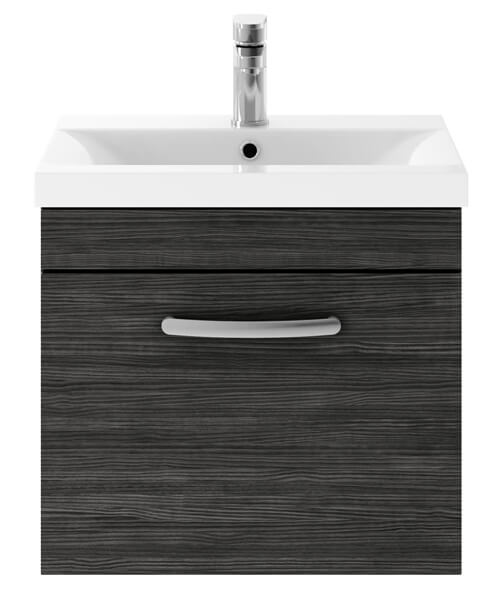 Additional image of Nuie Premier Athena 50cm Single Drawer Wall Mounted Unit With Washbasin 1