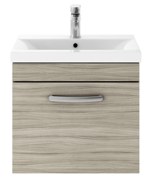 Alternate image of Nuie Premier Athena 50cm Single Drawer Wall Mounted Unit With Washbasin 1
