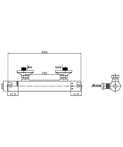 Technical drawing 58135 / A3906