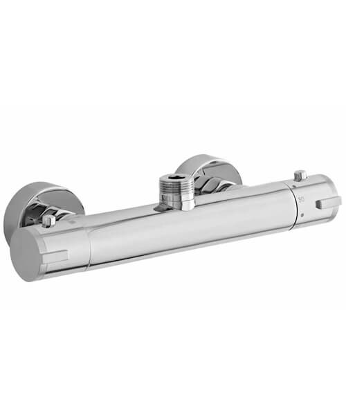 Nuie Premier Minimalist Thermostatic Bar Shower Valve With Top Outlet