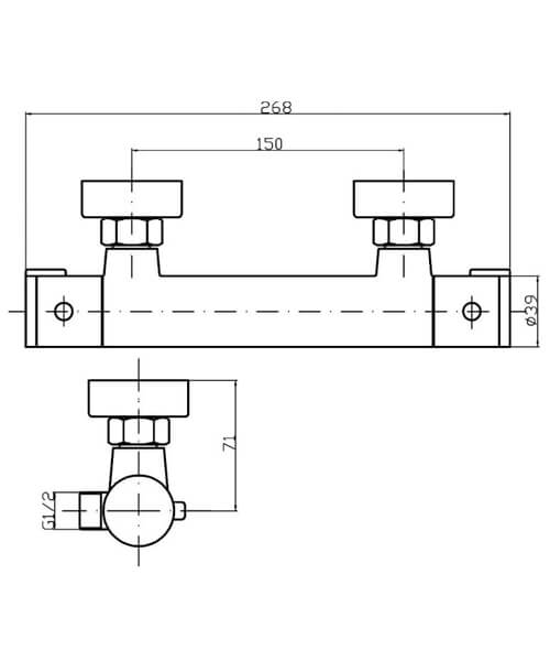 Technical drawing 58150 / VBS009