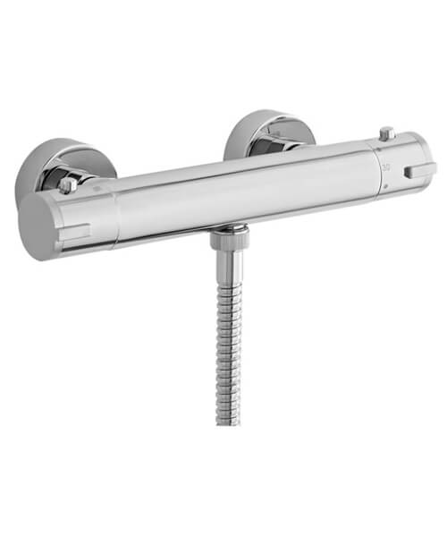 Nuie Premier Minimalist Thermostatic Bar Shower Valve With Bottom Outlet