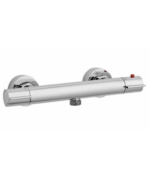 Nuie Premier Slimline Thermostatic Bar Shower Valve With Bottom Outlet