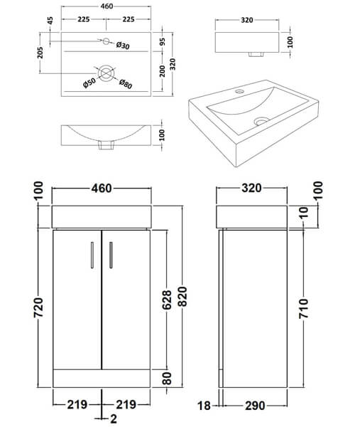 Technical drawing 18720 / VTFW450