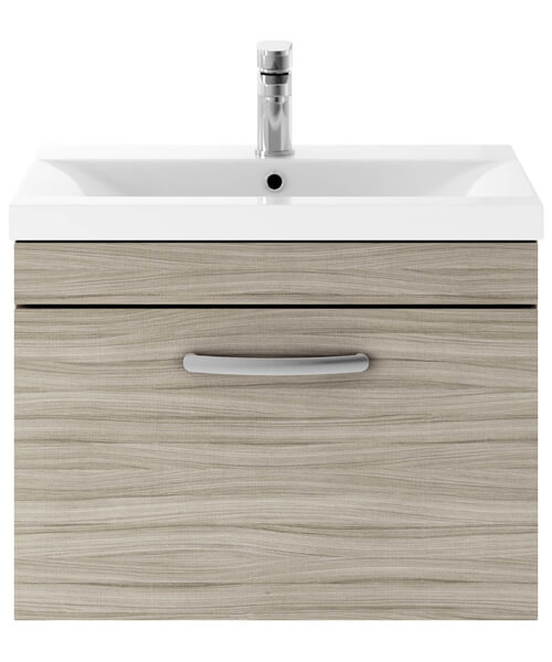 Additional image of Nuie Premier Athena 600mm 1 Drawer Wall Mounted Cabinet With Basin 2