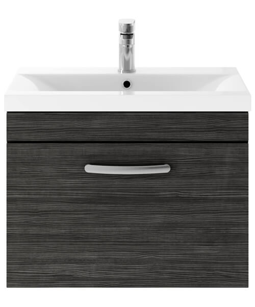 Alternate image of Nuie Premier Athena 600mm 1 Drawer Wall Mounted Cabinet With Basin 2