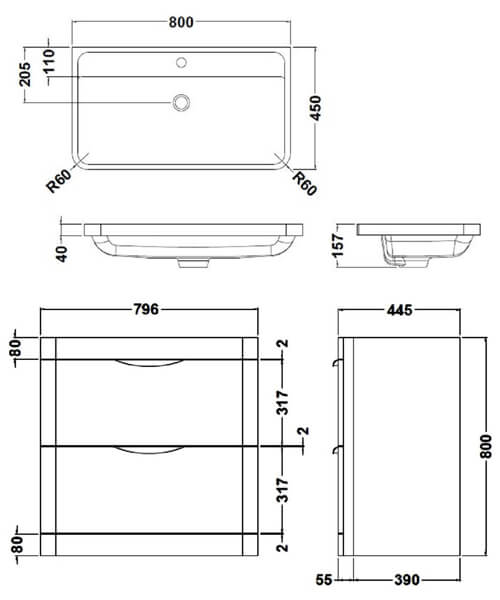 Technical drawing 17430 / FPA004