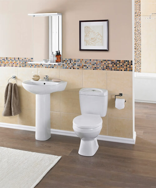 Additional image of Nuie Premier Melbourne 550mm Wide Basin With Full Pedestal