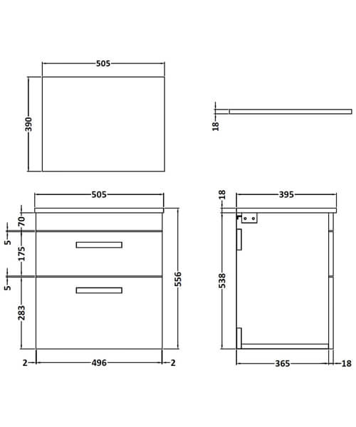 Technical drawing 55105 / ATH020W