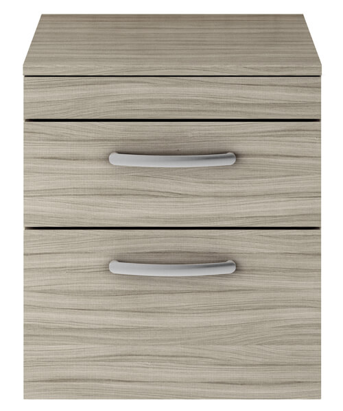 Additional image of Nuie Premier Athena 500mm Two Drawer Wall Hung Worktop With Cabinet