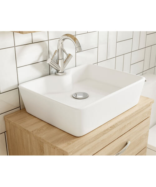 Alternate image of Nuie Premier Athena 500mm Two Drawer Wall Hung Worktop With Cabinet