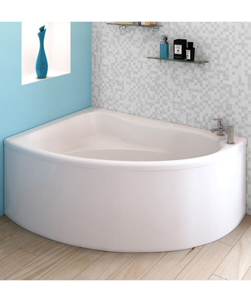 Additional image of Nuie Premier Pilot 1450 x 950mm Corner Bath With Panel