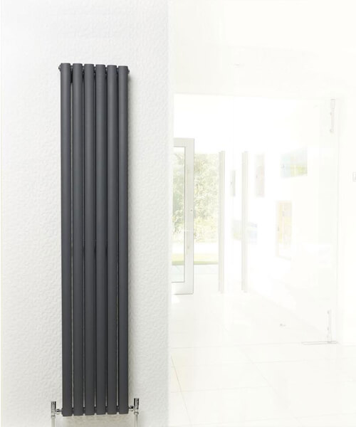 Additional image of Hudson Reed Revive 354 x 1500mm Anthracite Double Panel Vertical Radiator