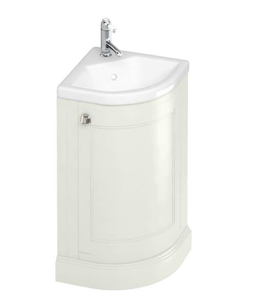 Additional image of Burlington Freestanding Corner Vanity Unit With Quattrocast Basin - W 430 x H 840mm