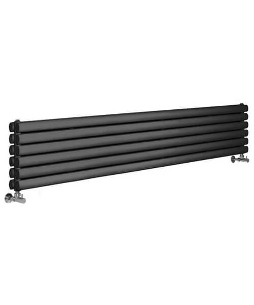 Hudson Reed Revive 1800 x 354mm Anthracite Double Panel Horizontal Radiator